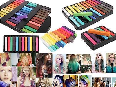 12 Color Non-toxic Temporary Hair Chalk Dye Soft Pastel Salon Kit Show Party DIU