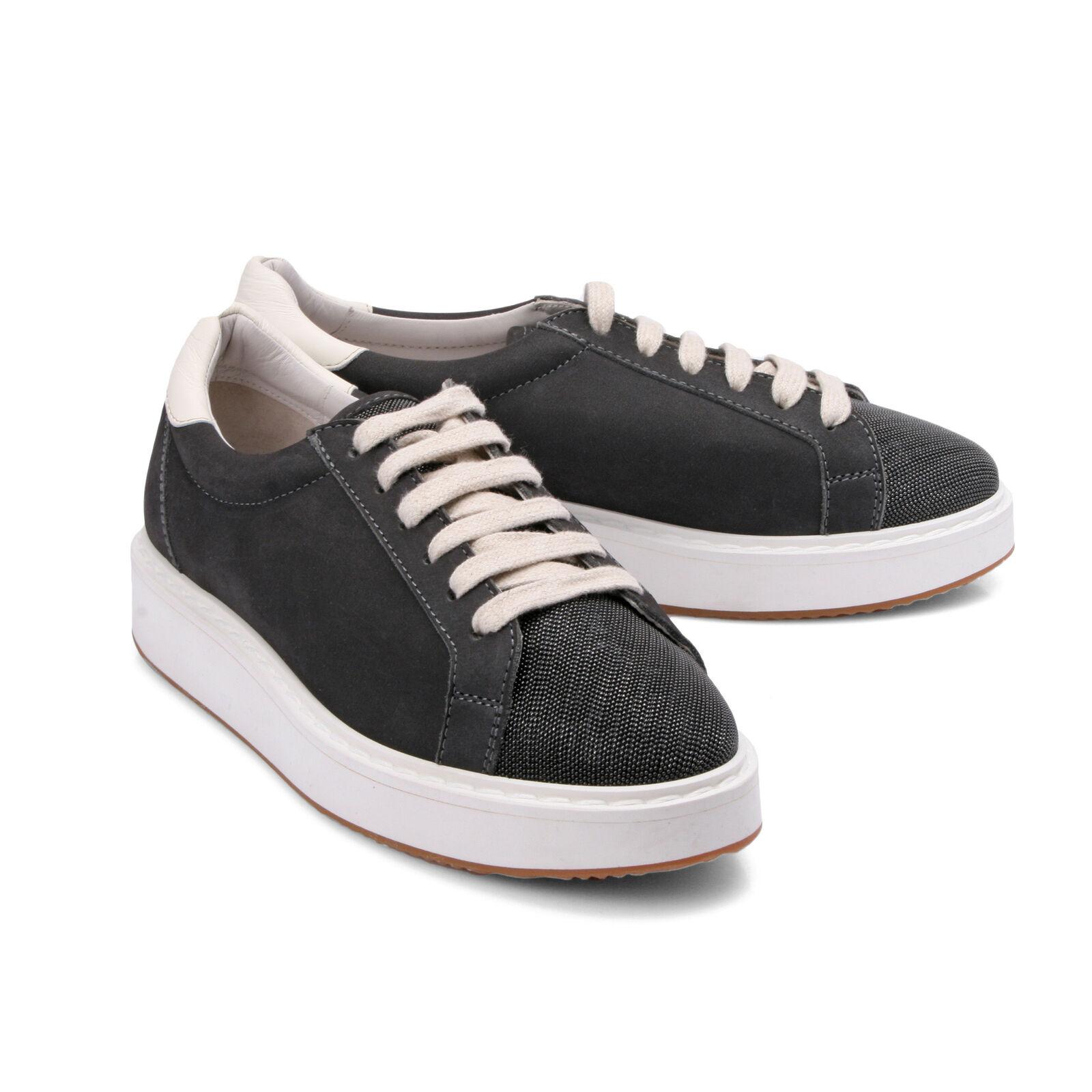 Brunello Cucinelli women Sneaker in pelle Eu 37.5 US 7.5