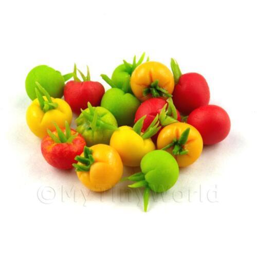 2x 6 Casa delle Bambole in Miniatura Fatto a Mano tomatoeses
