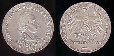 """1955 - 5 DM Gedenkmünze """"Friedrich von Schiller"""", ss/vz"""