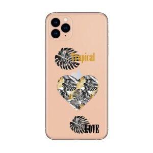 Coque Iphone 12 PRO MAX tropical love cœur