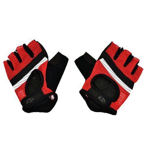 GIRO Siv Three-Panel Design Cycling Short Finger Gloves Black x Red-Stripe
