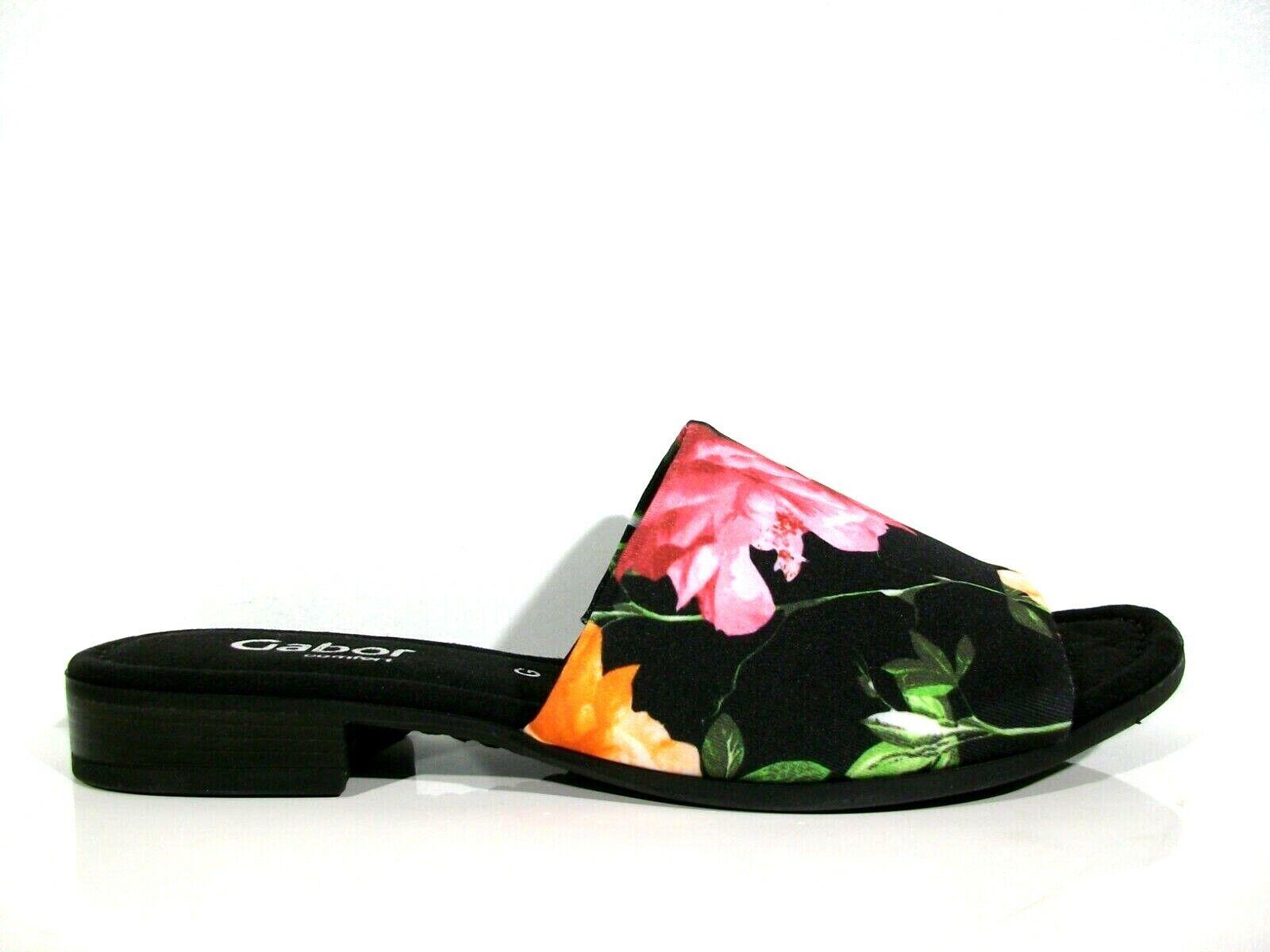 Gabor Damen Pantolette 22.790.27 Weite G schwarz multi Größe 37,5-40,5