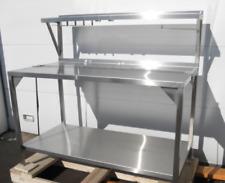 Used Heavy Duty 60 Stainless Steel Prep Table Withover Shelf Bakery Restaurant