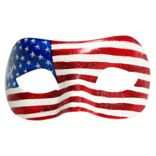 4th of July Patriotic USA Flag Eye Fancy Mask Costume Accessory Red White Blue