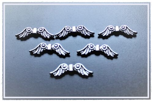 100 Metallperlen Engelsflügel Engel Flügel Engelflügel  silber gold