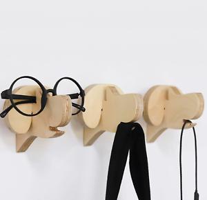 Dog-Wall-Hook-Mount-Wooden-Magnetic-Key-Dog-Leash-Hanger-Multipurpose-Holder