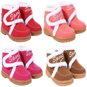 c8a87daf1a13 Child Toddlers Infant Winter Snow Boot with Fur Ankle Boots Kids ...