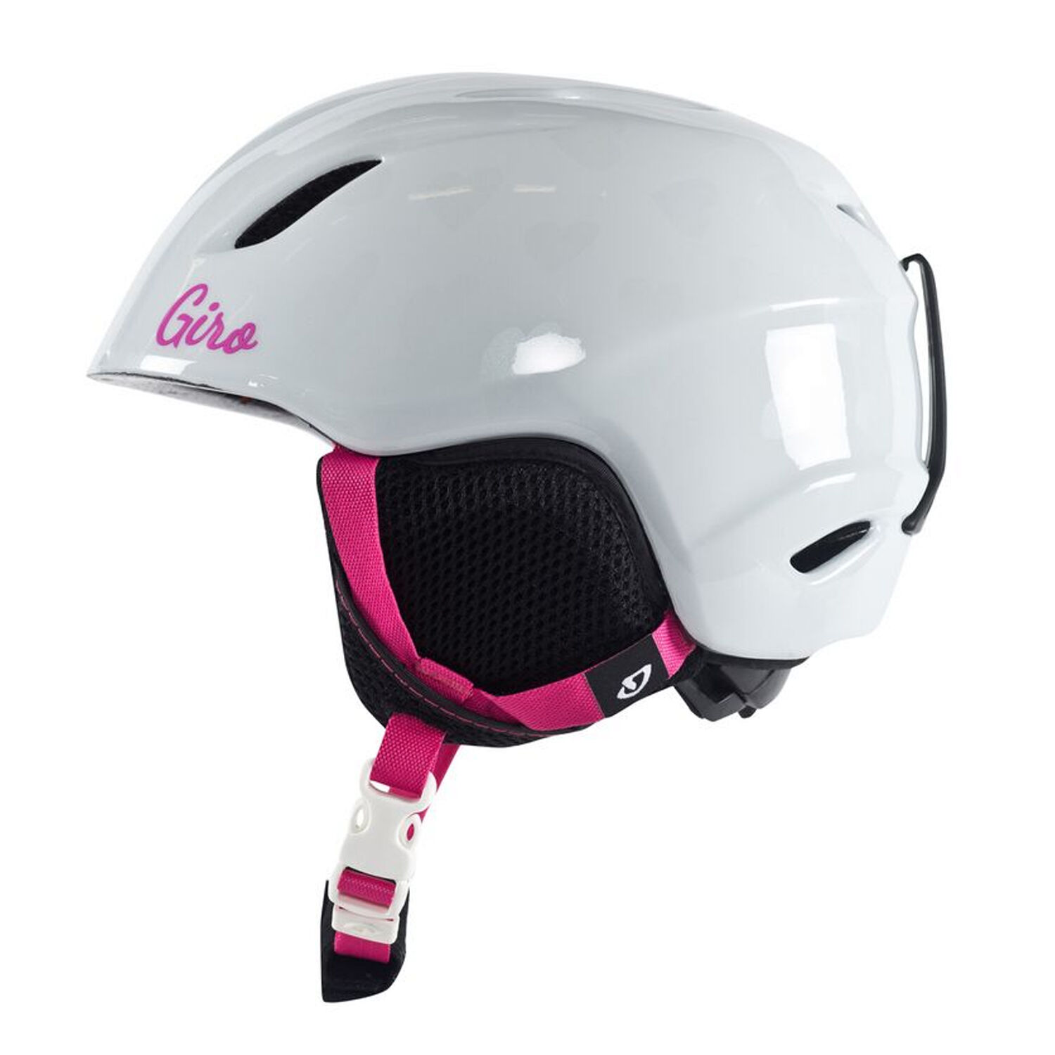 GIRO 2016 Youth Snowboard Snow White Hearts LAUNCH HELMET