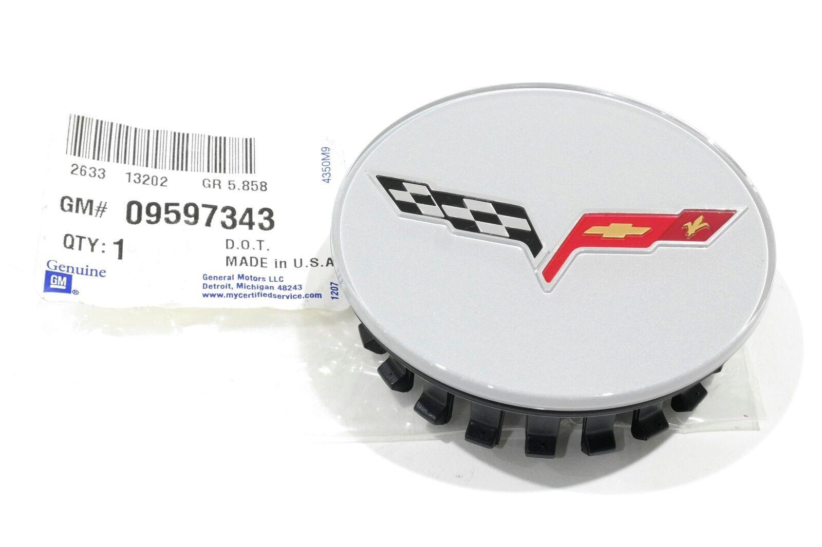 OEM NEW Wheel Hub Center Cap w// Logo 09-10 Chevrolet Corvette 09597343