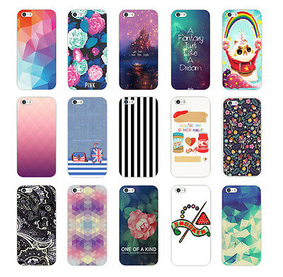 New Cute Painted Pattern Hard Back Phone Skin Case Cover For Apple iPhone 5 5S
