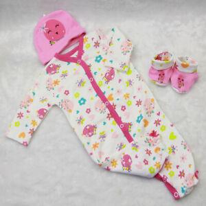 Chicks-Patterned-Romper-Jumpsuit-Set-for-55cm-Reborn-Baby-Girl-Doll-Clothing