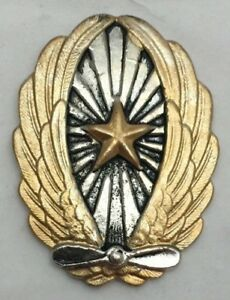JAPANESE-PILOT-BADGE-WWII-RARE-WING-REPRODUCTION-GOLD-ON-999-SILVERPLATE-ANTIQ
