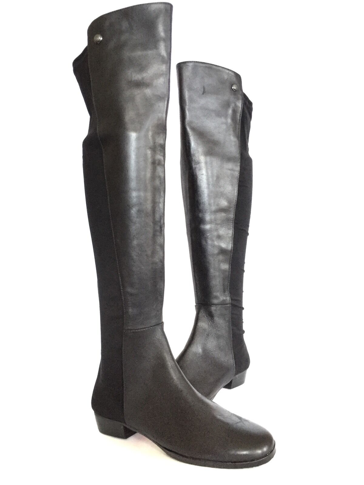 Women's Vince Camuto Karita Over the Knee Stretch Black Leather Boots Size 5 M*