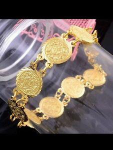 UK-lady-men-14K-GOLD-FILLED-BANGLE-bracelet-anklet-wedding-jewellery-gift-bag