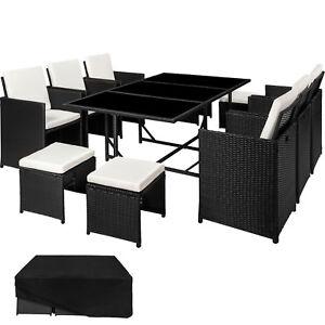 Ensemble Salon de jardin résine tressée poly rotin chaise table ...