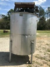 800 Gallon Dual Speed Stainless Steel Mixing Tank 3 Hp Amp 15 Hp W Gear Box Cone