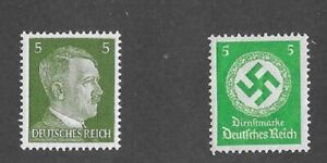 MNH stamp set / PF05 / Adolph Hitler & WWII emblem / Third Reich 1934 & 1941