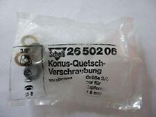 """531 Schell 26509 Konus-Quetschverschraubung 1//2/"""" für 10mm Kupferrohr verchromt"""