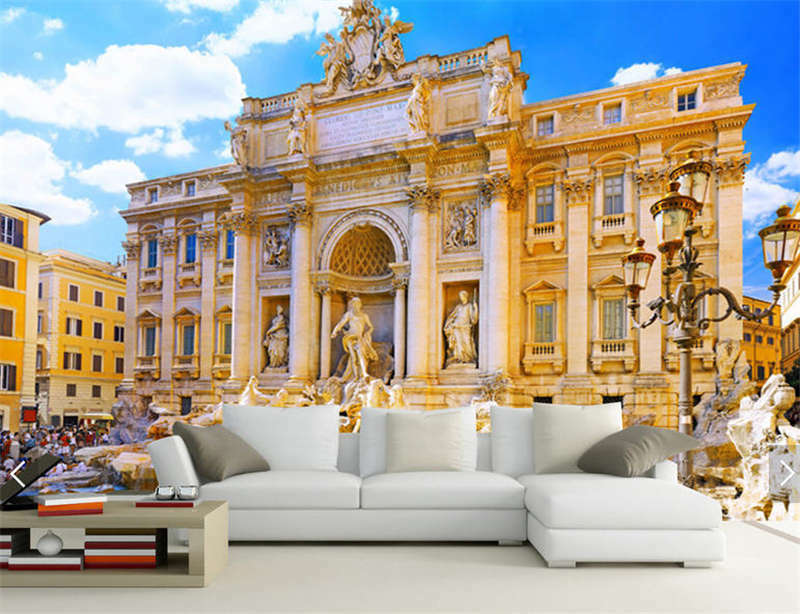 Trevi Fountain Rome Full Wall Mural Photo Wallpaper Printing 3D Decor Kid Home