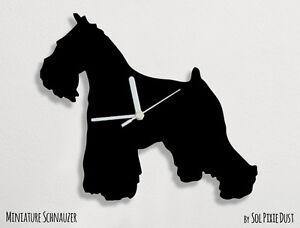 Miniature Schnauzer Dog Silhouette Wall Clock Ebay
