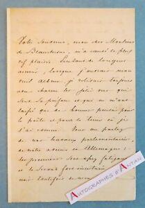 L-A-S-1848-General-Prince-Felix-de-von-LICHNOWSKY-Alcide-de-Beauchesne-lettre