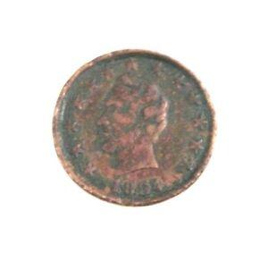 1864-Civil-War-Patriotic-Token-Abraham-Lincoln-Stars-OK-Chain-Links-F-127-248a