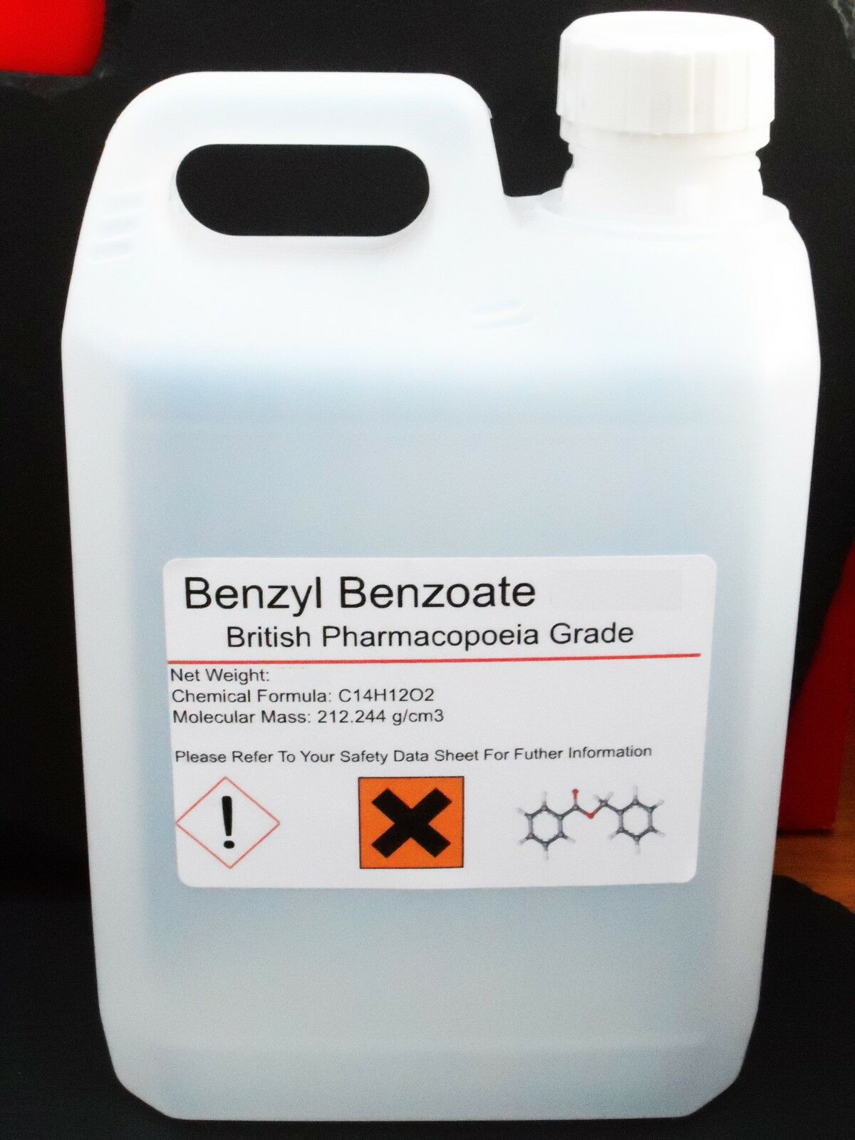 2000ml 2 litres Benzyl Benzoate 99.9% British Pharmaceutical Grade