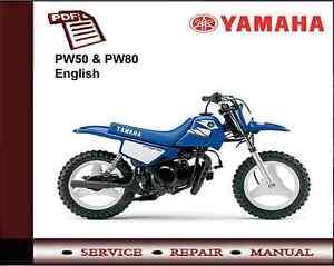 yamaha pw50 pw80 service repair workshop manual ebay rh ebay co uk pw50 repair manual pdf peewee 50 workshop manual