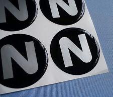 (N60/1) 4x N / Z Embleme für Nabenkappen Felgendeckel 60mm Silikon Aufkleber