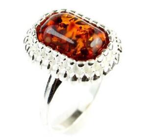 Lovely-Baltic-Amber-amp-925-Sterling-Silver-GL456N-Designer-Ring