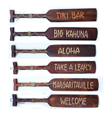 "Take A Leaky Bathroom Tiki Bar Wood Paddle Nautical Sign 39/"" Assorted Sayings"
