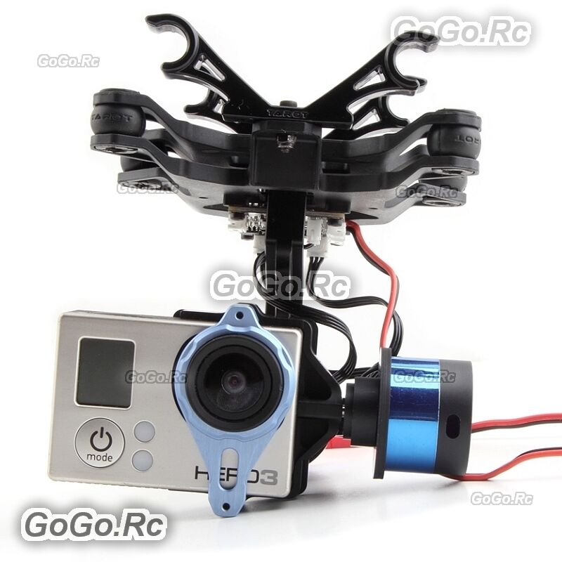 Tarosso Brushless Gimbal w  Gyro TL68A00 2 axis Camera Mount for GoPro Hero 3 3+ 4