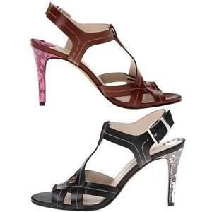 278-Donald-J-Pliner-034-Marlo-034-T-Strap-Stiletto-Heel-Leather-Sandals-Women-039-s-Shoes
