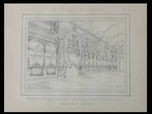 EXPOSITION-UNIVERSELLE-1889-AUTRICHE-HONGRIE-1889-PLANCHE-ARCHITECTURE