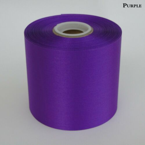 """4/"""" Wide Purple Ceremonial Ribbon for Grand Opening Ceremony 50 Yard Roll"""