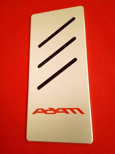 Rot Auto Fußstütze Opel  ADAM Edition  Tuning NEU Aluminium Inlay Schwarz