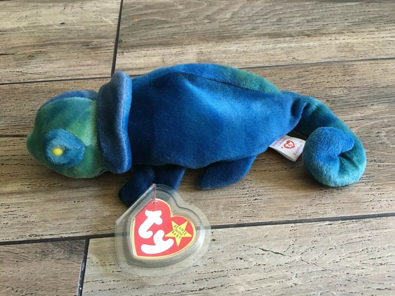 TY ORIGINAL BEANIE BABY  RAINBOW     RETIRED WITH ERRORS