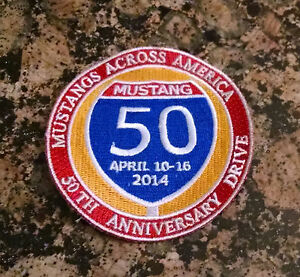 Mustangs-Across-America-50th-Anniversary-Drive-Patch-NOS