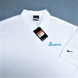 período Depresión Sinfonía  Camiseta Nike Poly GOLF -- l -- Delta Logo -- Wrinkle Free -- Blanco -- Sin  uso --!!!!! Nueva!!! Etiquetas!!!!!! | eBay