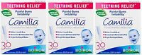 3 Pack Boiron Camilia Teething Relief, 30 Count Ea (0.034 Fl Oz Each) on Sale