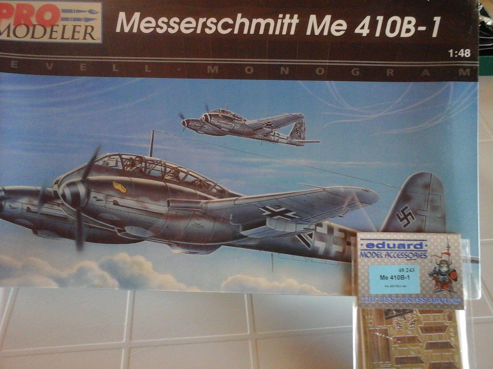 MESSERSCHMITT ME410B-1 BOMBER 1 48 SCALE PRO MODELER MODEL+N.2 PHOTOETCHED PARTS