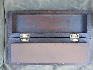 ANTIQUE-SHARPENING-STONE-WOOD-BRASS-BOX-SHAVING-OR-KNIFE-USE-CHICAGO-LAND-ORIGIN
