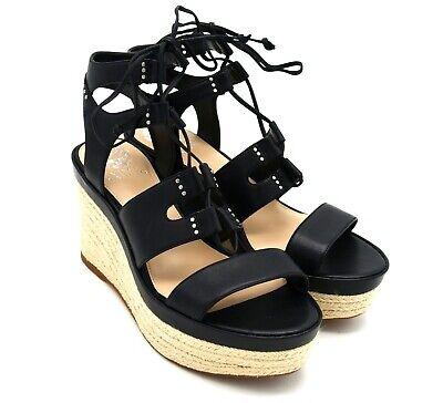 7bc38826bf5 D2620 New Women's Vince Camuto Katila Black Platform Wedge Sandal US 8.5 M  | eBay