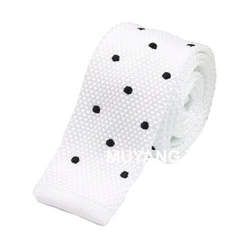 Details about  /Mens Classic Knitted Polka Dots Star Pattern Skinny Necktie Business  Neck Tie