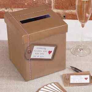 Briefbox Geschenkbox Gastebuch Hochzeit Vintage Braun 15 X 15