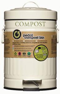kitchen craft living nostalgia cream metal foot pedal compost bin