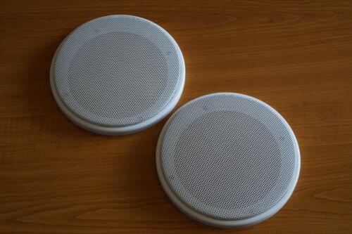Par 1 din-100 altavoces-universal cubierta cubierta de parrilla 10 cm blanco