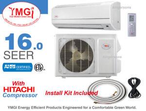 Details about 12000 BTU YMGI Vth HITACHI SEER 16 Ductless Split Air  Conditioner Heat Pump 110V