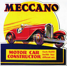 Retro Metal Plaque: MECCANO Motor Car Constructor) Sign/ad
